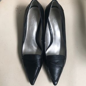 Coach Black leather formal heels
